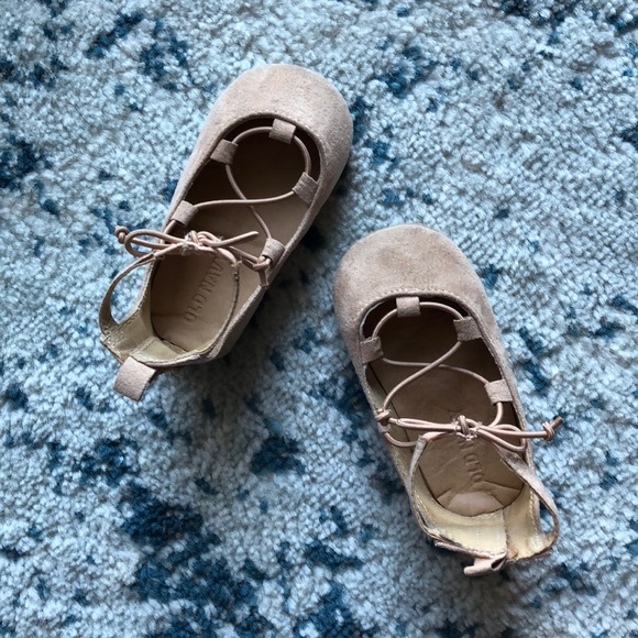 Baby Laceup Ballet Flats   Poshmark